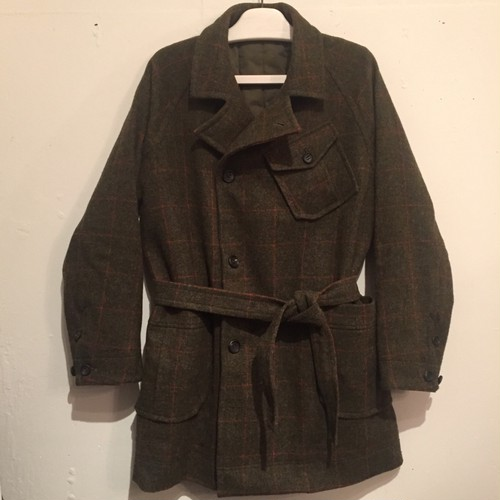【votole】BRITISH WOOL CHECK HOSPITAL COAT
