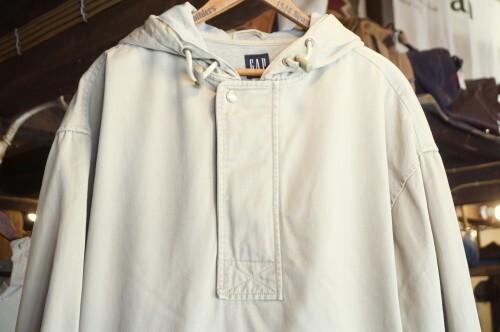 90's old GAP sand-beige cotton pull-over Jacket