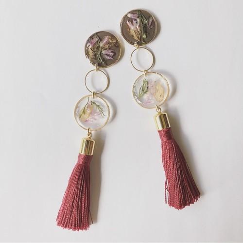 petal tassel pierce / earring (gold)