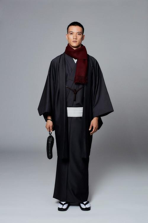 羽織 / Silk-wool / Ink(With tailoring)