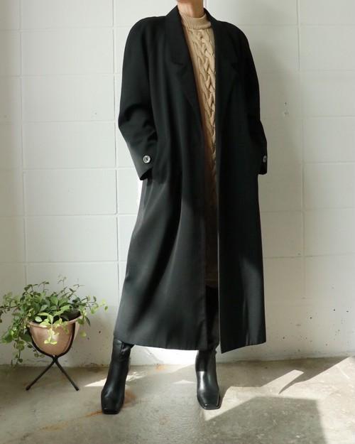 black vintage chesterfield coat