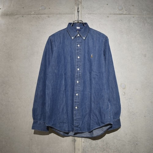 POLO RALPH LAUREN CLASSIC FIT DENIM SHIRT / NAVY
