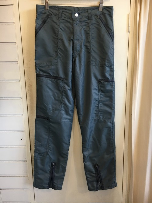 80s Nylon Zip Design pants