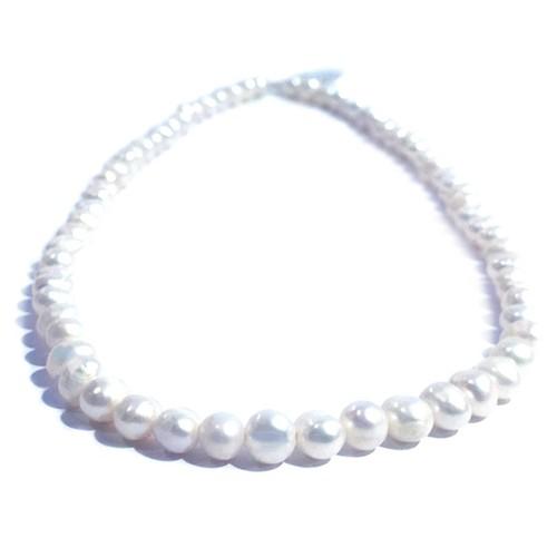本真珠のネックレス(ホワイト)