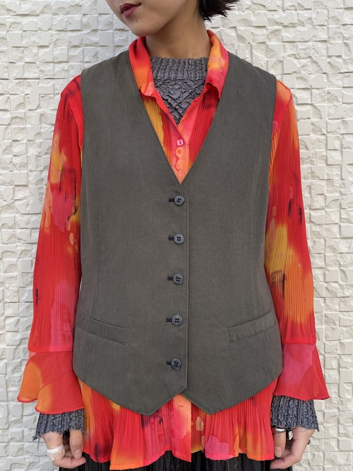 (TOYO) khaki vest