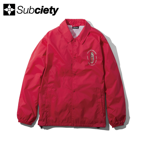 【送料無料】Subciety(サブサエティ) | COACH JACKET-Dear president-(Red)
