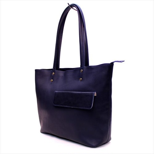 Desse GLOVE LEATHER TOTE <NAVY>