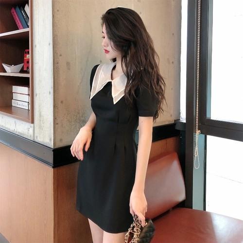 シックウエストマークドレス A143