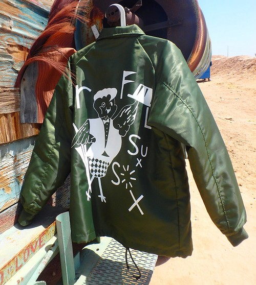 SALE!!! ROFLxSUXSOX BOA COACH JACKET GREEN