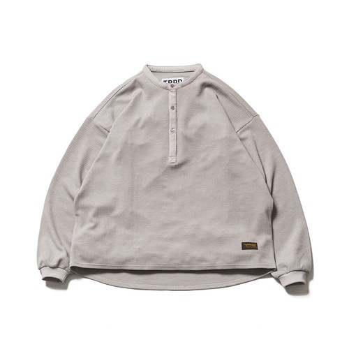 TIGHTBOOTH  KANOKO BAND COLLAR TOPS L Greige