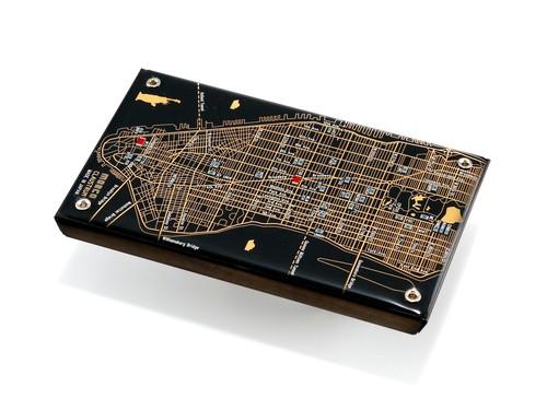 NY回路地図 名刺入れ 黒 【東京回路線図ピンズをプレゼント】