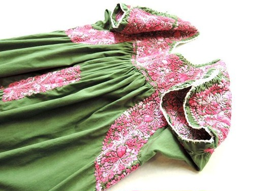 Vintage サンアントニーノ刺繍メキシカンワンピース