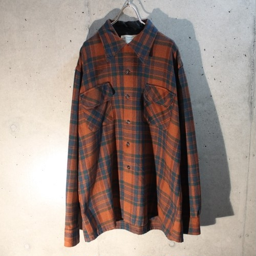 Old wool check shirt