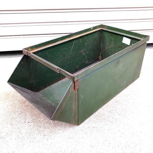 品番0482 軍箱 インダストリアル 容器 スチール製 米軍放出品 ヴィンテージ