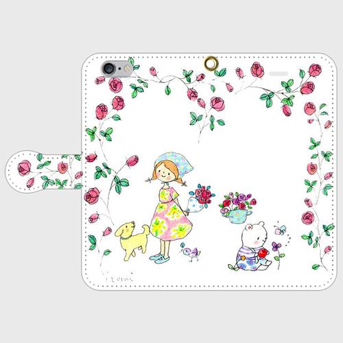 rosebouquet 手帳型スマホケース iPhone6/6s