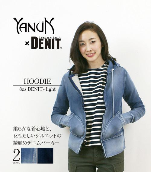 YANUK・ヤヌーク  スウェットデニムパーカーフーディー 57181114 DENIT/デニット 日本製/MADE IN JAPAN