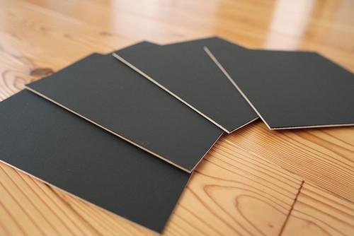チョークアート用ブラックボード20cm×20cm4枚セット