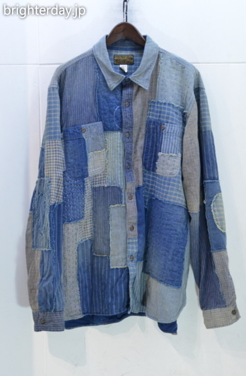 RRL LIMITED INDIGO PATCHWORK SHIRTS