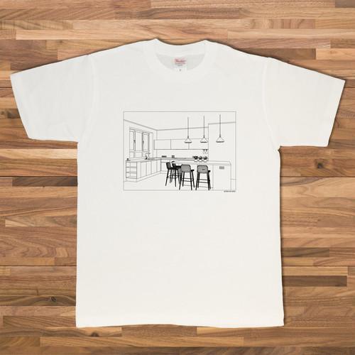 キッチンイラストTシャツ/ホワイト【CWE-011WH】