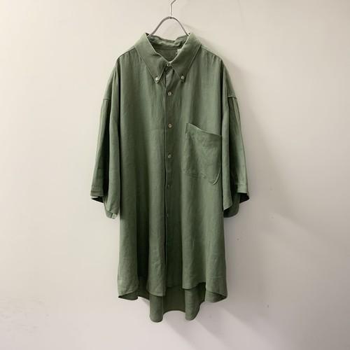 BARNYBRICKEN リネンシャツ グリーン系 size XL メンズ 古着