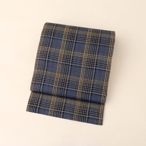 1939 未使用◆チェック柄しゃれ袋帯