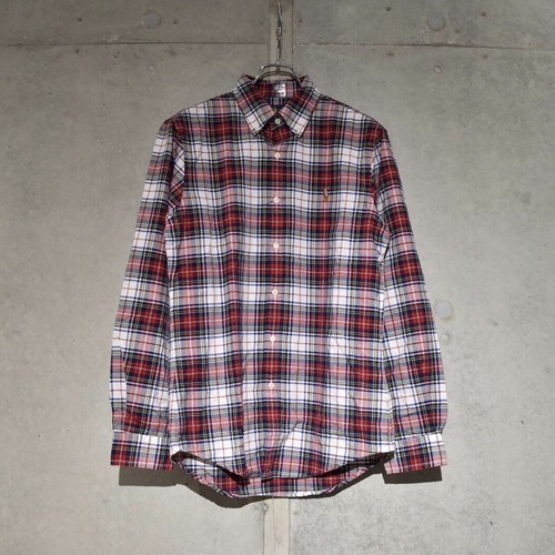 POLO RALPH LAUREN CLASSIC FIT CHECK SHIRT / RED x BLUE