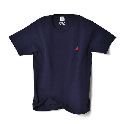 CREW NECK T-SHIRT / RED FIN / NAVY