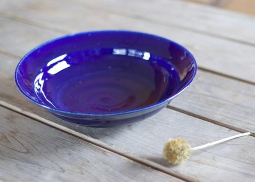 カレー・パスタ皿(リム鉢/瑠璃)