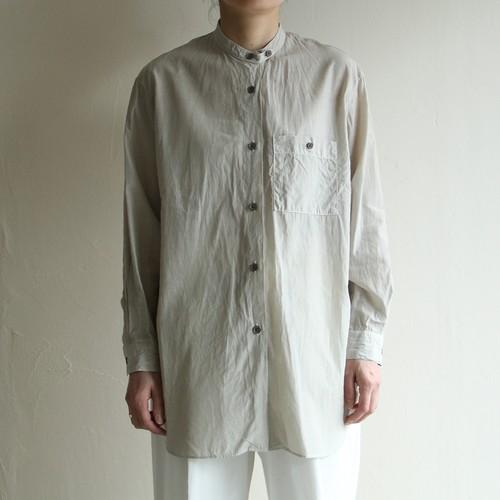 STILL BY HAND【womens】cupro cotton band collar shirts