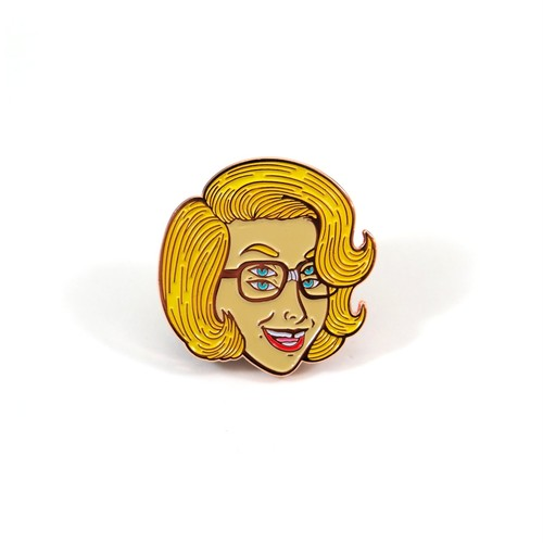 "Toughtimes""6-Eyed Girl Pin"""