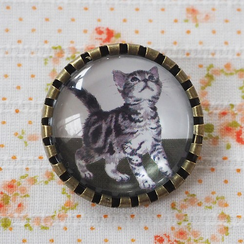 猫 ブローチ アメリカンショートヘア B