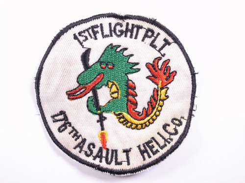"OLD PATCH""1ST FLIGHT PLT 176YH ASAULT HELI.co"""