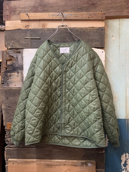 80's belgian army quilting liner jacket