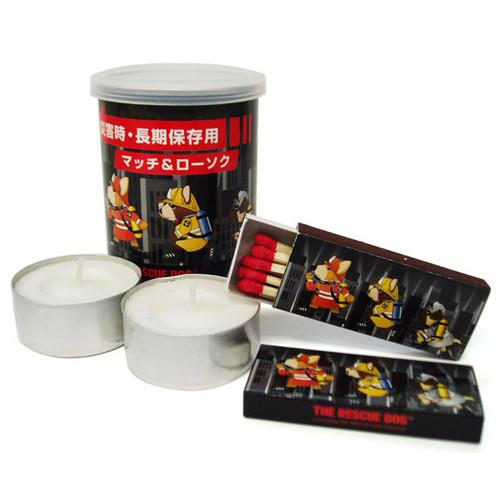 災害時長期保存用 缶詰マッチ(黒)