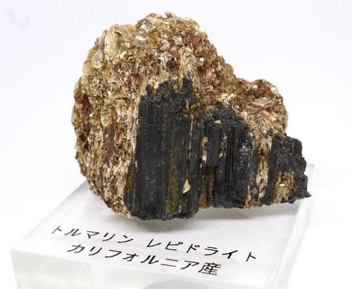 自主採掘!カリフォルニア産ブラックトルマリン 79,3g T108 天然石 鉱物 標本 原石
