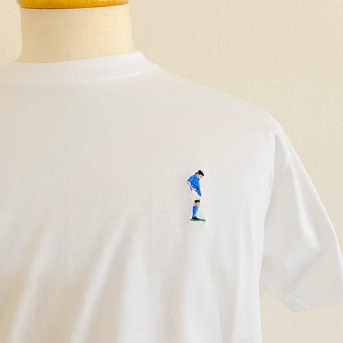 Legend Embroidery T-shirts ~Football~ Fantasista / White