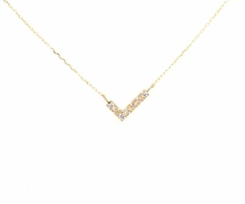 Amulet angel WING diamond necklace K18YG
