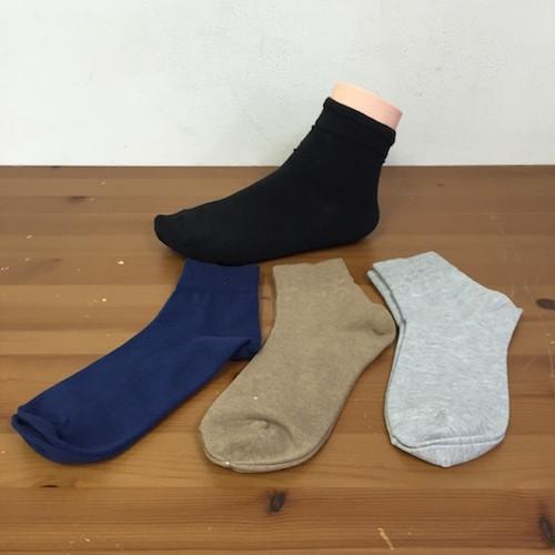 (完売御礼/炭のチカラ)綿由来の天然炭素繊維を靴下の産地奈良県の工場で編んだショートベーシックソックス