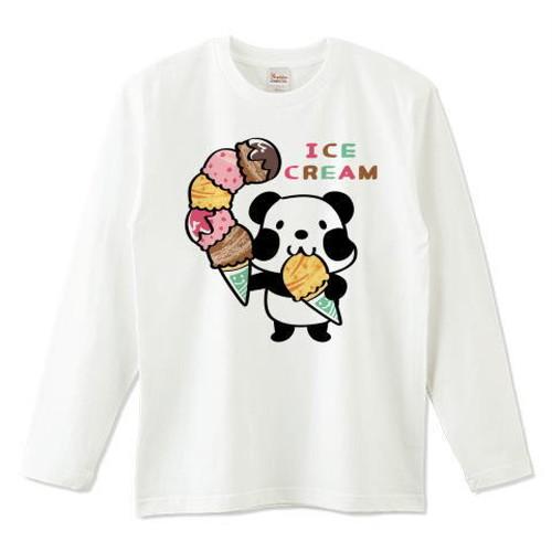 キャラT54 ズレぱんだちゃんとアイスを食べようC *5.6オンスロングTシャツ (Printstar)
