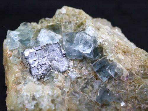 蛍石 + 方鉛鉱 ニューメキシコ アメリカ産 フローライト + ガリーナ 原石 91,9g FL017