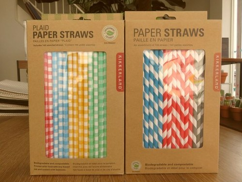 Plaid Paper Straws