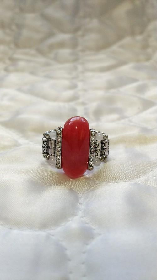 天然石のリング キット   ピンククォーツ