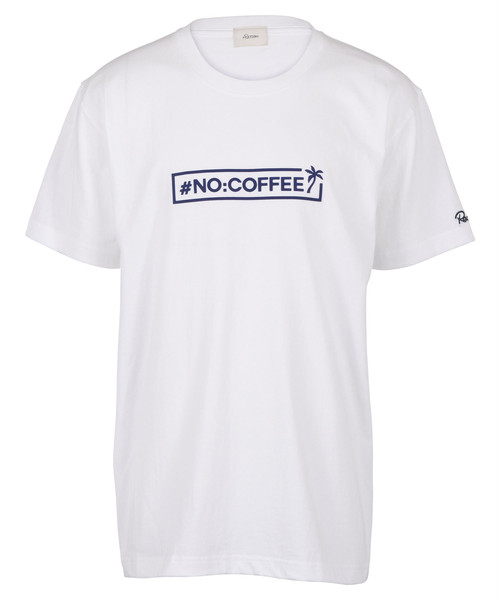 NO COFFEE×#Re:room BOX LOGO RUBBER PRINT BIG T-shirt[REC494]