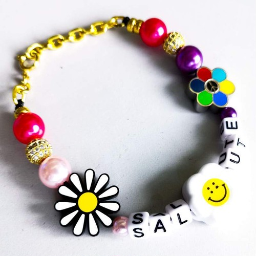【予約商品】SALUTE Flower Anarchy Bracelet MULTI
