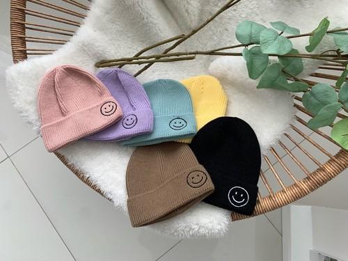 ニコちゃんニット帽【即納】