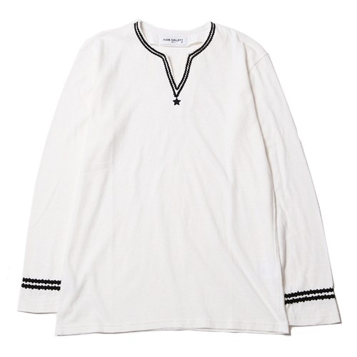 HIP STAR V-NECK L/S (WHITE) / RUDE GALLERY