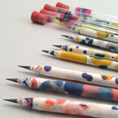 デザイン雑貨 Color Dot Paper Pencil