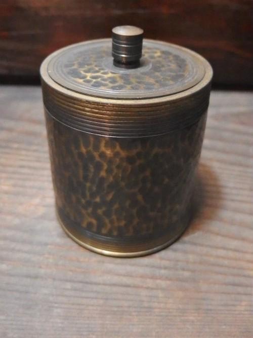 銅製 お茶筒 蓋付 茶入 煎茶道具 茶器