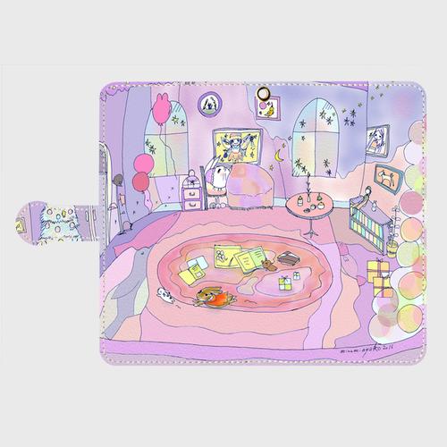 Android Lサイズ ママのお部屋手帳型スマホケース