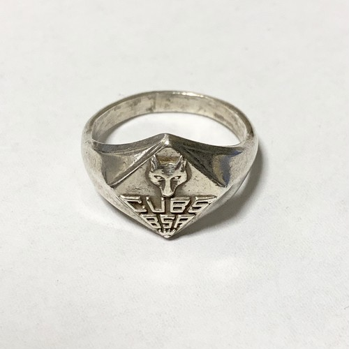 Vintage CUB SCOUT Silver Ring ①